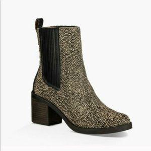 Ugg Camden Exotic Genuine CalfHair Block Heel Boot